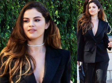 Selena Gomez In A Givenchy Suit Minus A Shirt Is Stunning